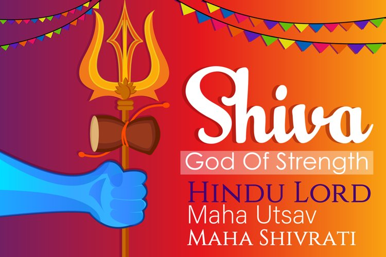 Shiva Trishul Illustration example image 1