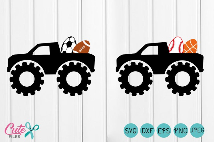 Monster Truck  svg, truck  egg sport, first easter svg, My First Hunting Season, cut file silhouette cameo example image 1