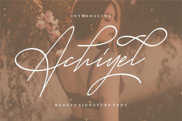 Achieyel - Beauty Signature Font example image 1