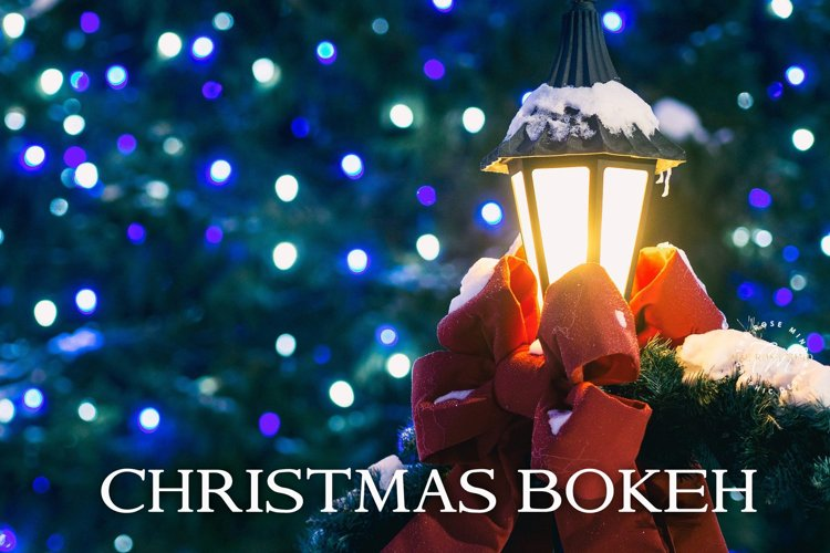 80 Bokeh Christmas, lights background, example image 1