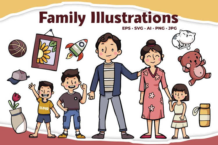 Family Illustrations example image 1