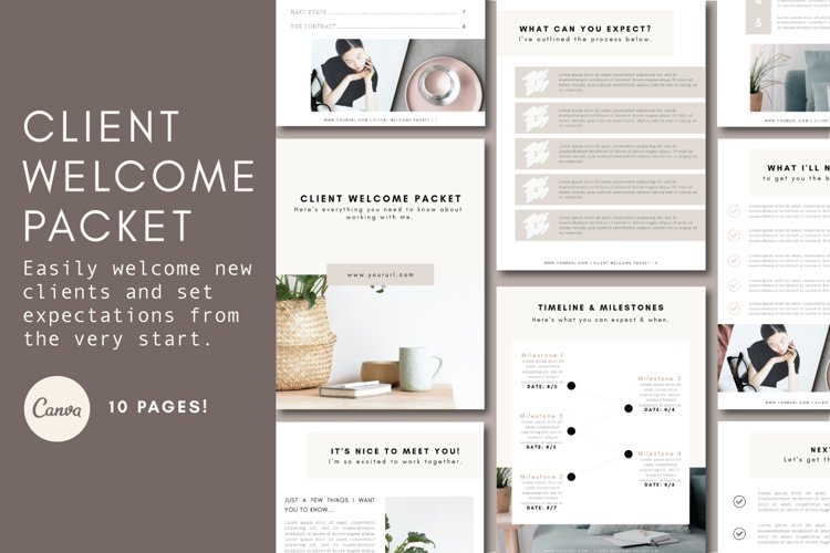 New Client Welcome Packet | Client Onboarding | Welcome Kit example image 1