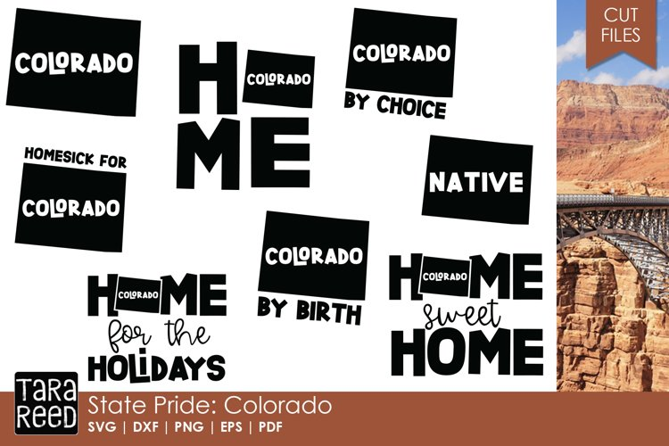 Colorado SVG and Cut Files for Crafters example image 1