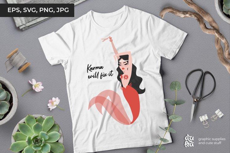 Karma will fix it - Vector Illustration SVG