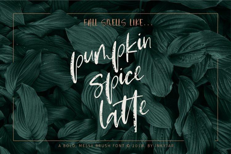 Pumpkin Spice Latte | Brush Script example image 1