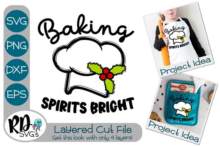 Baking Spirits Bright - A Christmas Cricut Layered Cut File example image 1