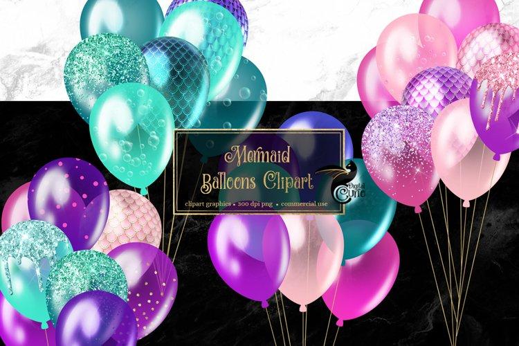 Mermaid Balloons Clipart example image 1