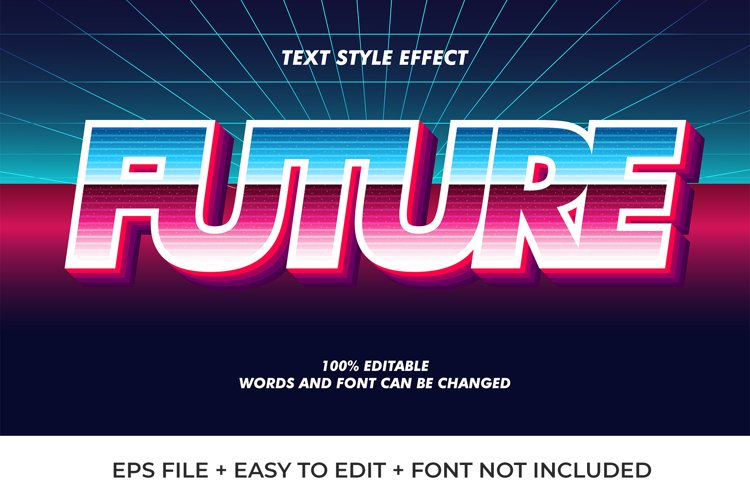 Future Vector Text Effect