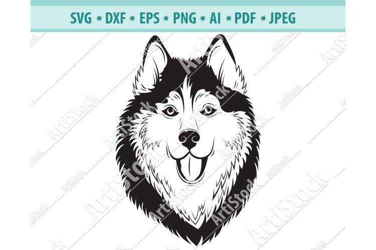 Husky SVG, Husky Silhouettes, Dog SVG, Pets Dxf, Png, Eps example image 1