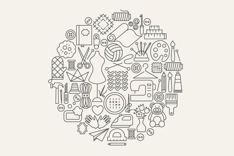 Handmade Line Art Icons example 4