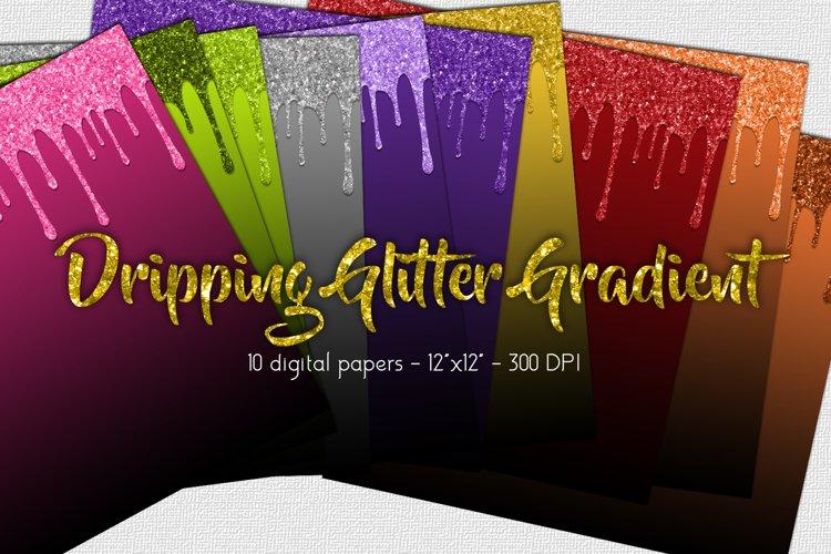 Halloween Glitter Drip Digital Paper Set