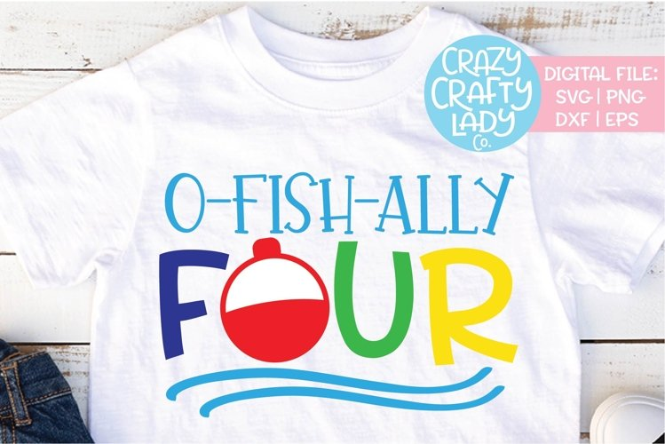 O-fish-ally Four 4th Birthday SVG DXF EPS PNG Cut File