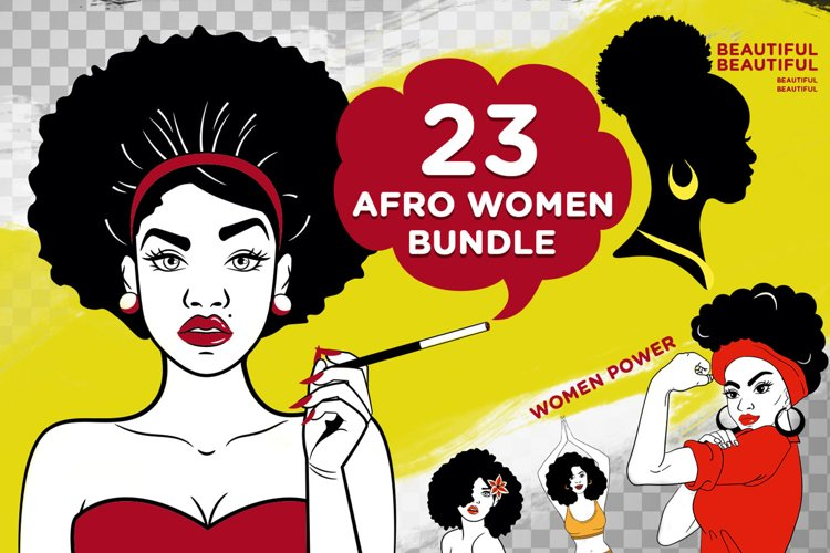 23 Afro Woman Svg Bundle - Afro Girl - Afro Queen Svg