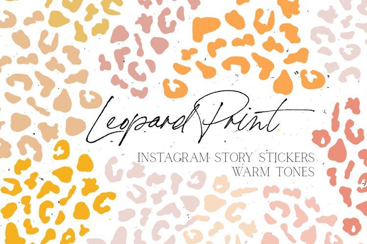 Warm Tones Leopard Print Instagram Story Stickers example image 1