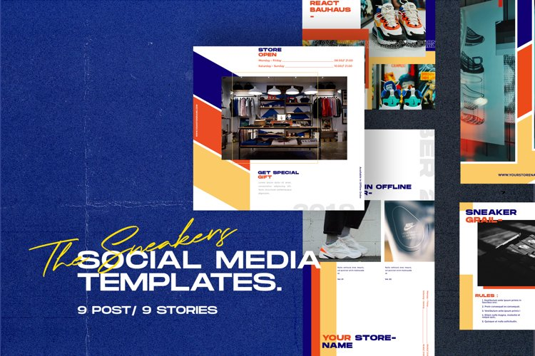 The Sneakers Social Media Templates