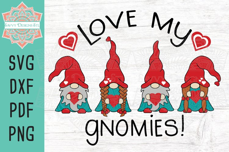 Love My Gnomies Valentine Layered SVG Cut File example image 1