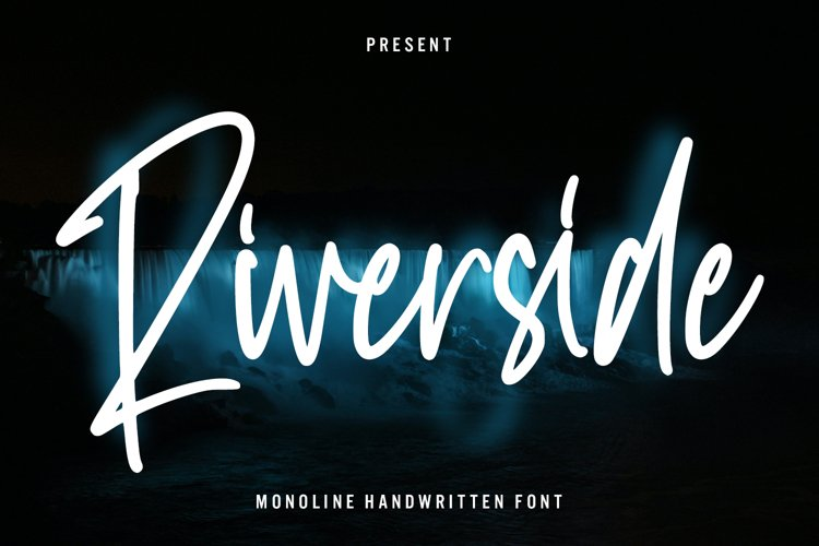 Riverside - Monoline Handwritten Font example image 1