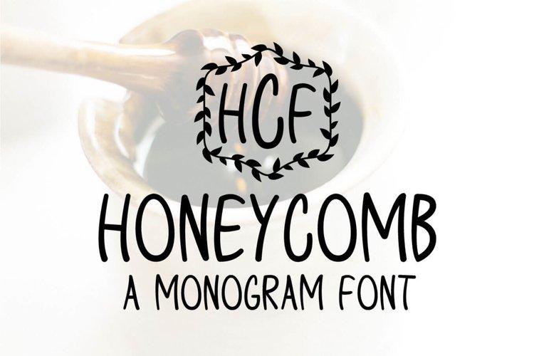 Honeycomb - A Monogram Font example image 1