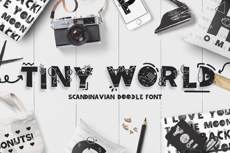 Tiny World! Scandinavian Doodle Font example image 1