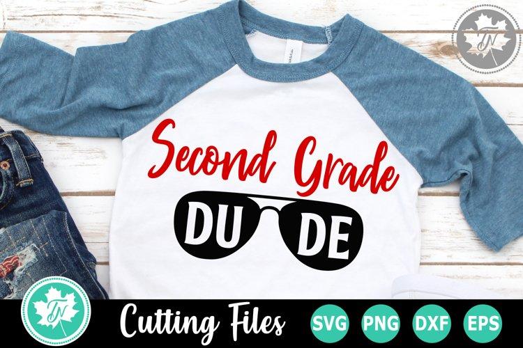 Second Grade Dude - A School SVG Cut File example image 1