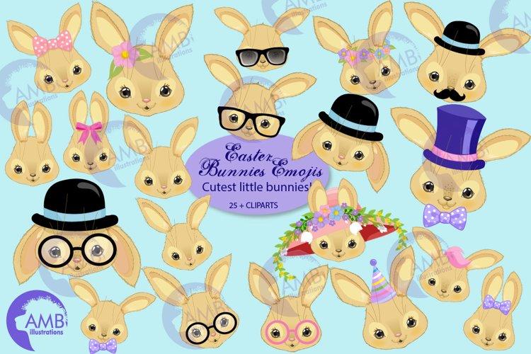 Bunny clipart, rabbit clipart, Bunny faces AMB-2725
