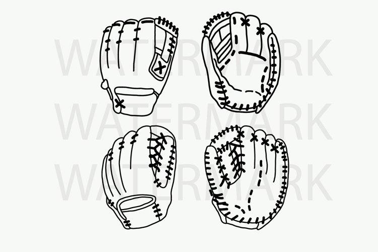 Baseball Gloves - SVG/JPG/PNG Hand Drawing example image 1