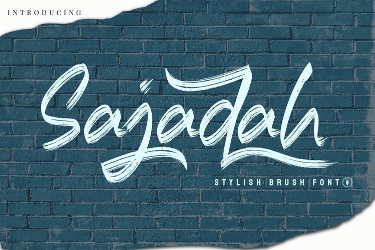 WEB FONT | SajadahStylish Brush