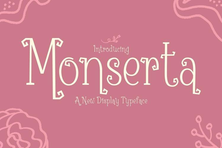 Web Font Monserta example image 1