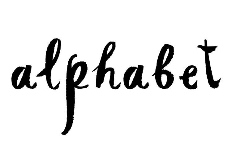 Hand drawn alphabet example image 1