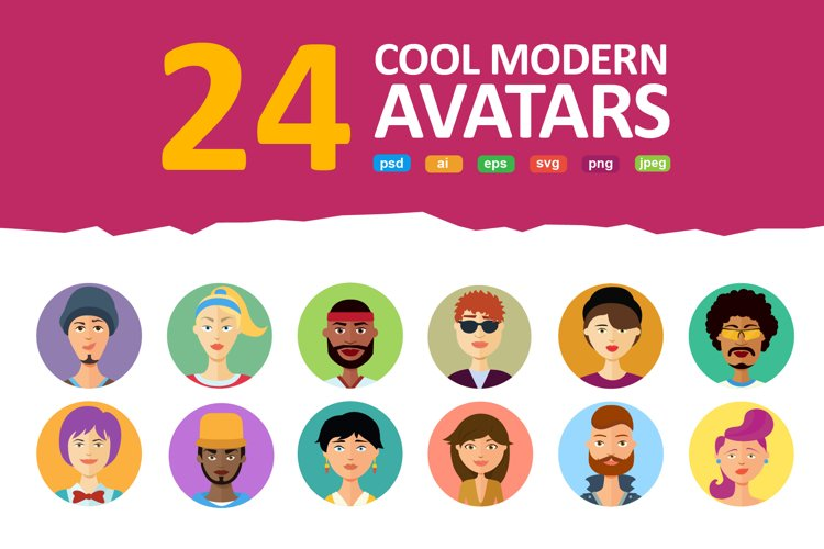 Avatars vector People Collection flat cartoon