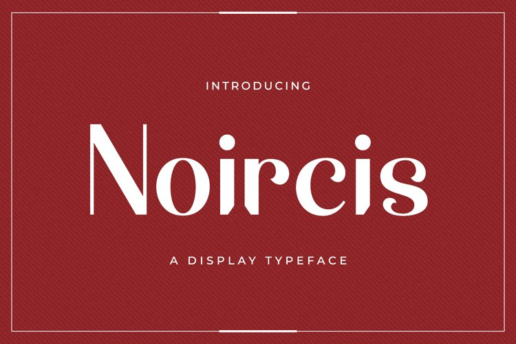 Web Font Noircis example image 1