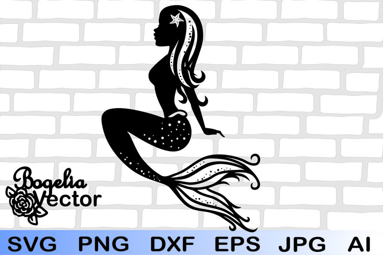 Mermaid Svg, Sea Shell Svg, Mermaid Cricut Svg, Mermaid Png