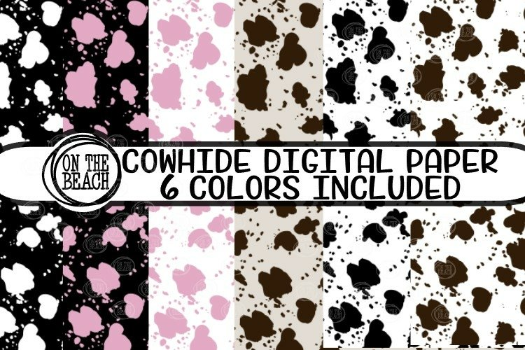 COWHIDE Digital Paper - PNG Sublimation