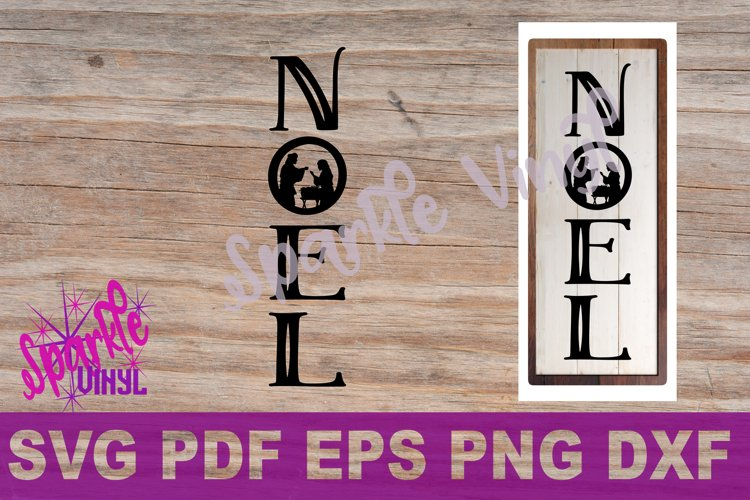 Svg Christmas Noel Nativity sign stencil farmhouse style Christmas svg cut files for cricut sihouette, DIY Sign Stencil example image 1