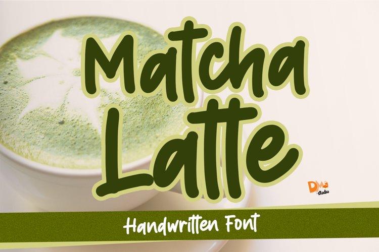 Matcha Latte - Handwritten Font example image 1