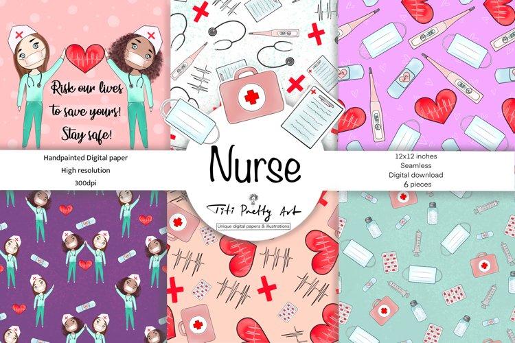 Nurse Care Digital Paper Pack, Medical Paper Pack, Stay Safe