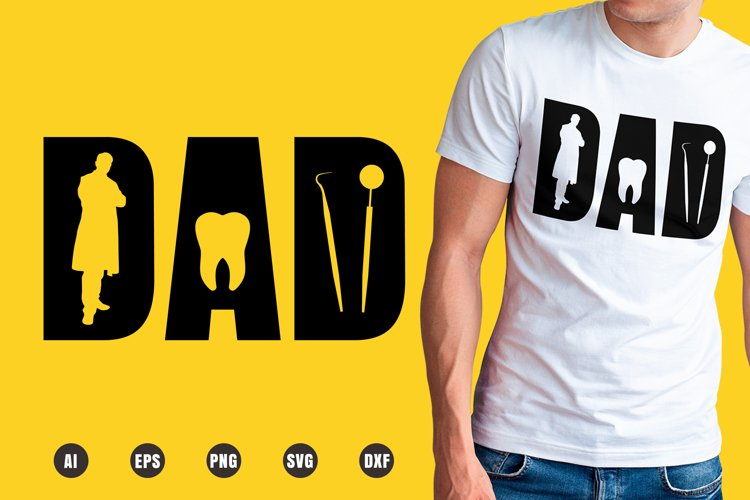 Dad Dentist SVG - Father's Day Designs example image 1