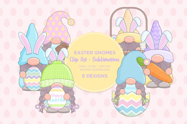 Easter Gnome Clip Art Sublimation example image 1
