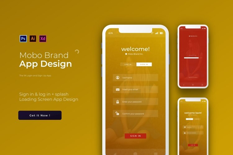 Mobo Login & Sign Up | App Template example image 1