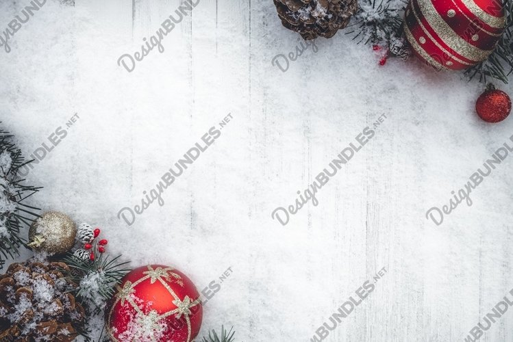 Christmas Flat Lay Background example image 1