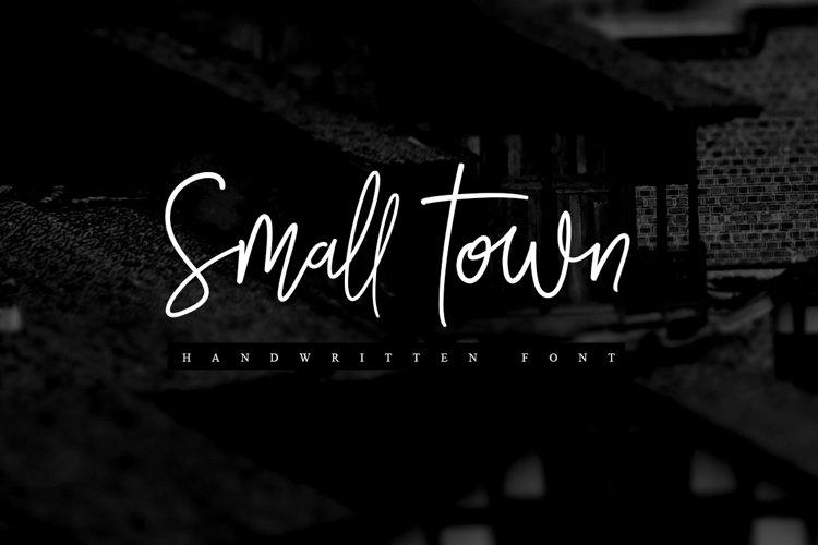 Smalltown handwritten font example image 1