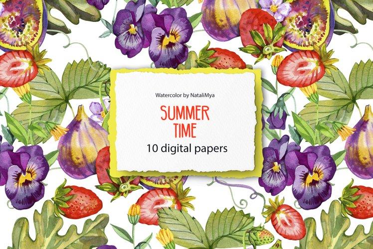 Summer digital paper pack example image 1