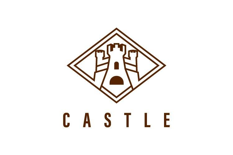 Castle vector logo template - Eps 10 example image 1