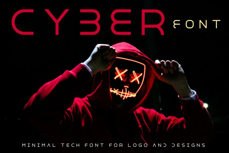 Cyber World - Minimal Font for Modern Designs example image 1