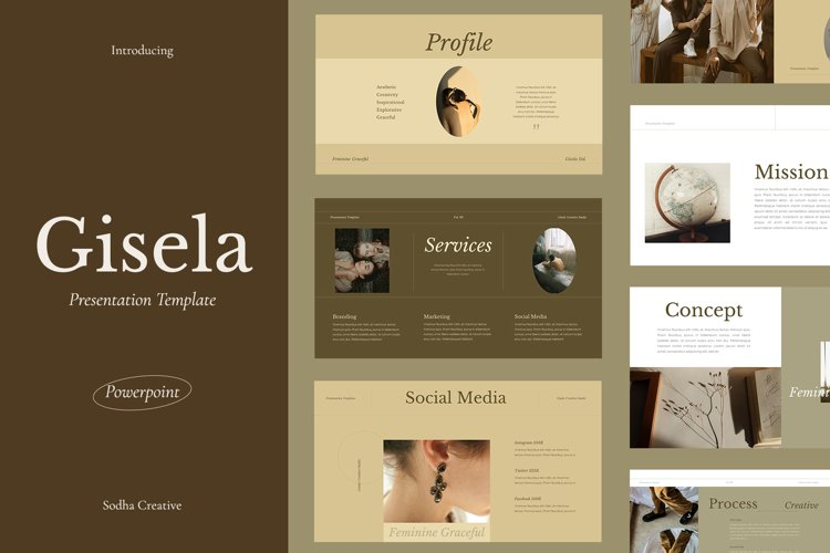 GISELA - Powerpoint Template example image 1