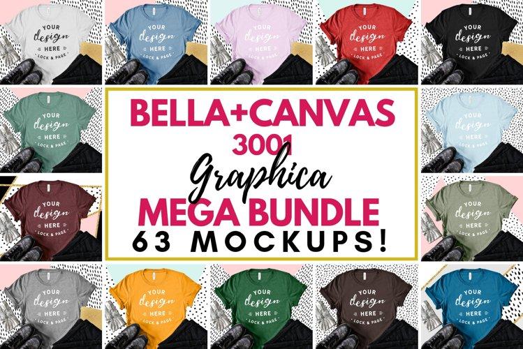 T-Shirt Mockup Bella Canvas 3001 Fashion Blog Style Bundle example image 1