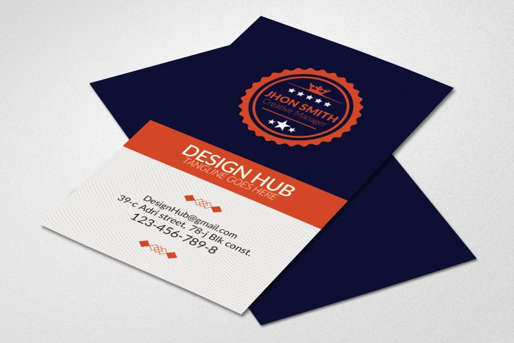 Retro Vintage Vertical Business Card example image 1