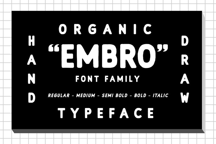 Embro font family example image 1