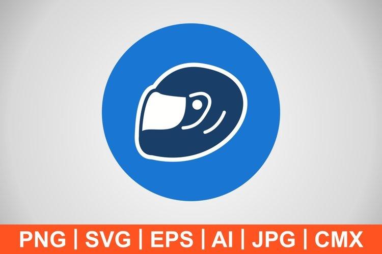 Vector Racing Halmet Icon example image 1