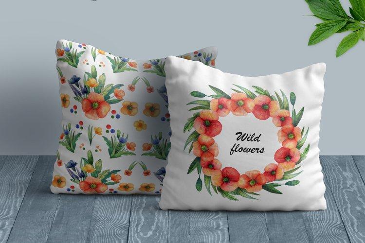 Watercolor wildflowers example 10